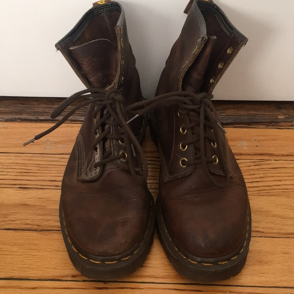 31b4bc01692a0 Dr. Martens Shoes - Vintage Doc Marten Brown Leather Boots